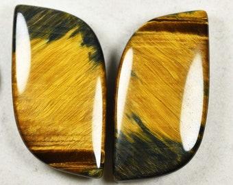 rare Tiger EyeHawk/'s Eye pair of designer cabochons