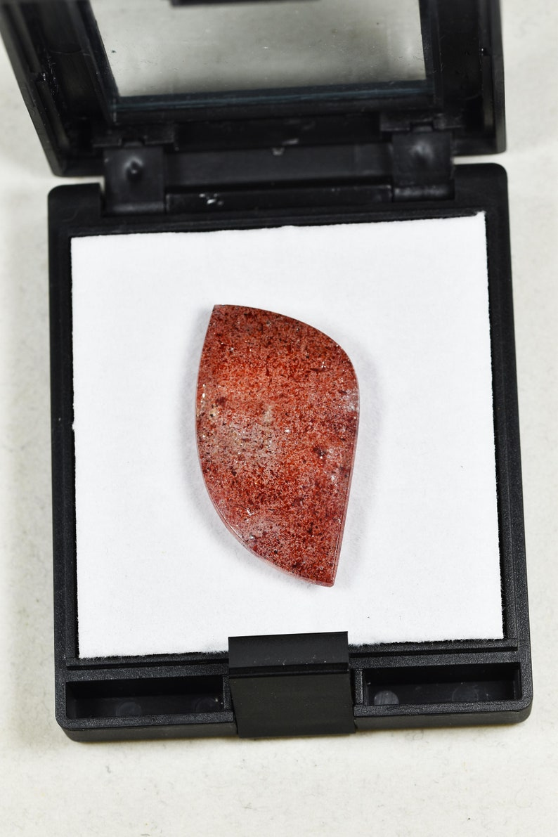 AAA Strawberry Quartz designer cabochon one of a kind gem from Brazil
