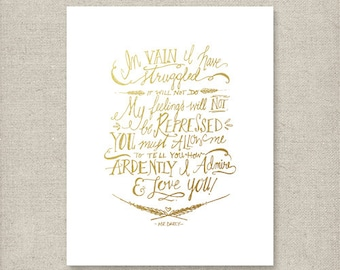 Mr. Darcy Quote (Gold)