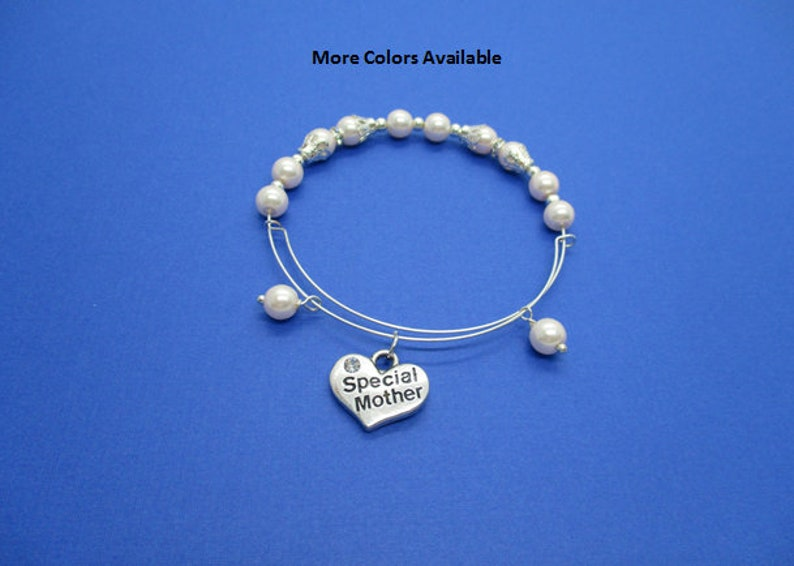 B446 Special Mother Expandable Pearl /& Charm Bracelet-Special Mother gifts-Special Mother jewelry-Special Mother bracelet-Special Mother