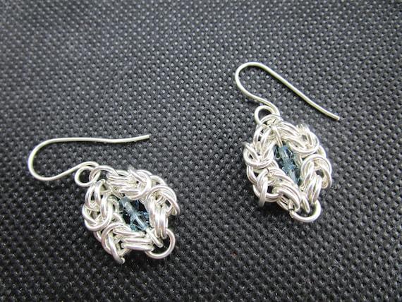 Beautiful Pair Of Mixed agate pendant 925 silver Earrings AB/_7