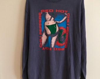 Red hot chili pepper vintage long sleeve (mens large )