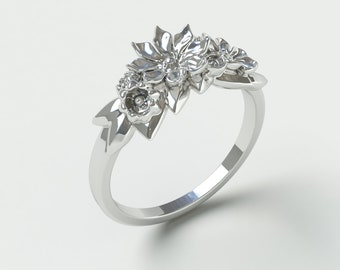 Flower ring | Gift for her | Nature Jewelry | Floral | Solitaire ring