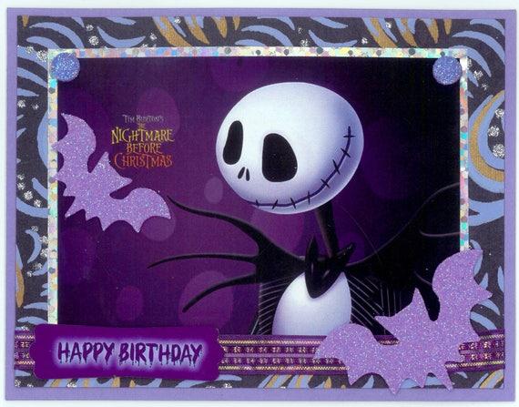 Jack Skellington Birthday Card Etsy
