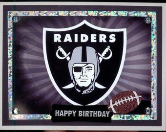 Oakland Raiders Birthday Card