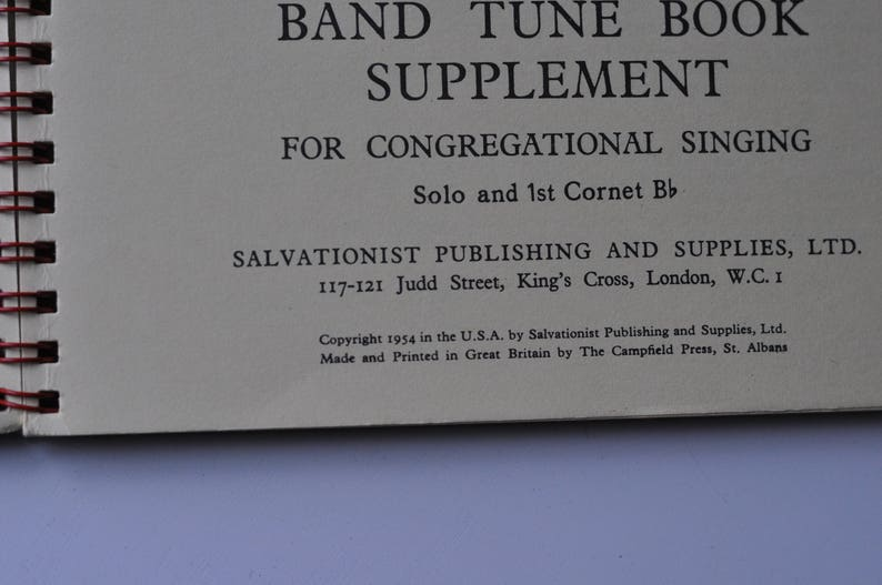 Salvation Army Tune Book