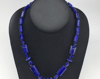 Beads Natural High Grade Lapis Lazuli Handcut Facetted Polished Mixed Shaped Designs Beads Strand 16 18 Elpb202