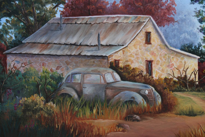 Vieja pintura del coche coche de viejo país coche por Rock | Etsy