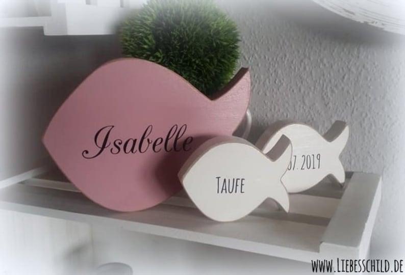 Fische Deko Für Die Taufe Kommunion Geburt Holzdeko Holzfische Konfirmation Tischkarte By Liebesschild