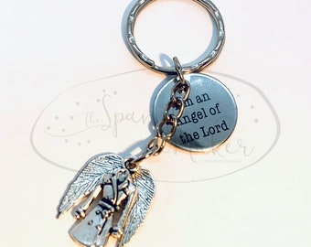 Supernatural Castiel Angel of The Lord Keychain