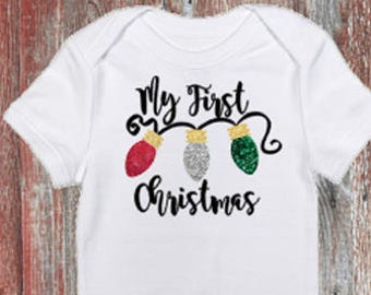 Baby's My First Christmas Infant Bodysuit