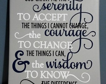 Serenity Prayer Home Decor Sign