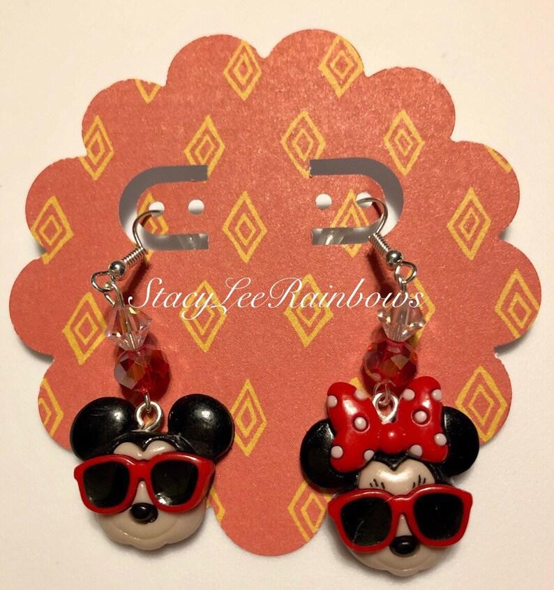 Mickey Summer Fun Earrings. Mickey mouse sandal earrings Disneyland Earrings Disney world Earrings