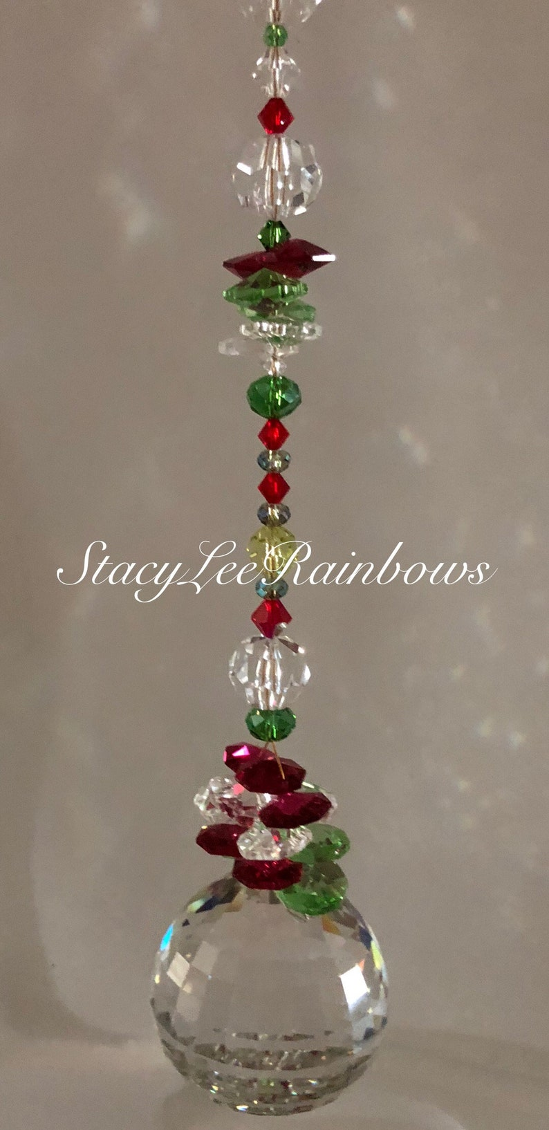 50mm Asfour Multi Faceted With All Swarovski Crystals Crystal Suncatcher  Sun Catcher Window Decoration Rainbow Maker Garden Decoration