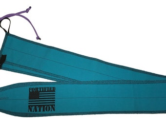 Fortified Nation Wrist Wraps - Torqiouse / Purple