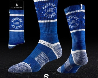 Fortified Nation Strideline Crew Socks - Patriot