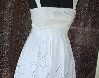 White eyelet dress SALE