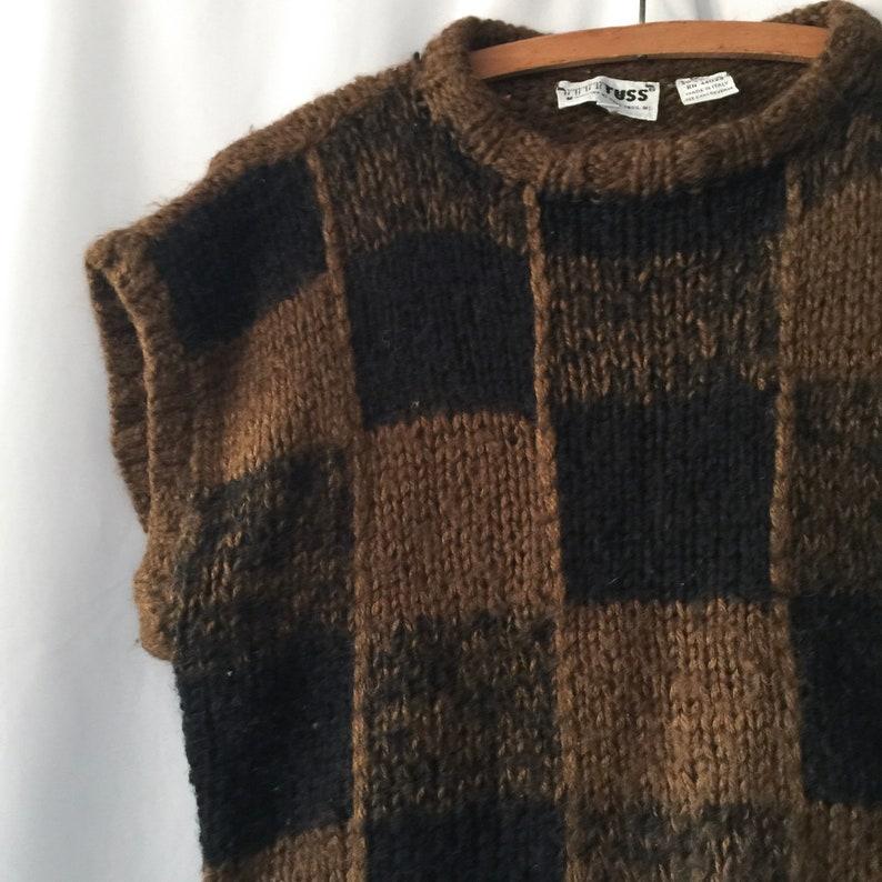 Rad vintage checkered sleeveless top