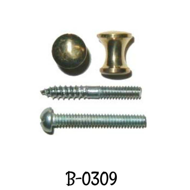 Brass Knob Small Brass Bookcase Knob Polished Turned Brass 38