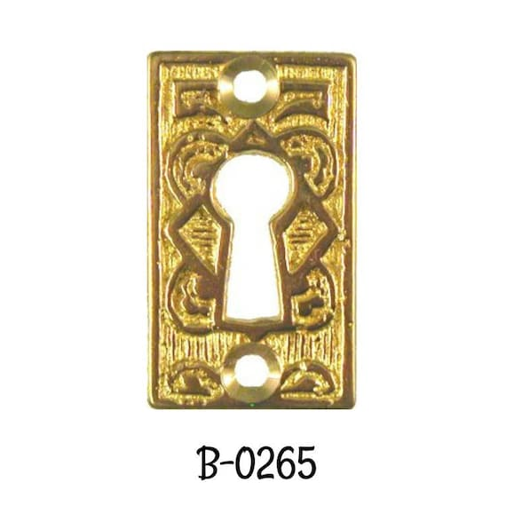 Bronze Victorian Door Back Plate Eastlake Swinging Key Hole Cover