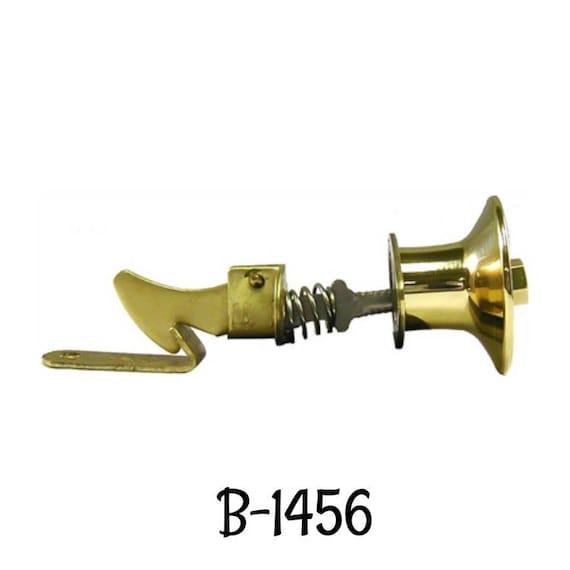 Push Button Cabinet Latch with Round Knob Brass  B-1456