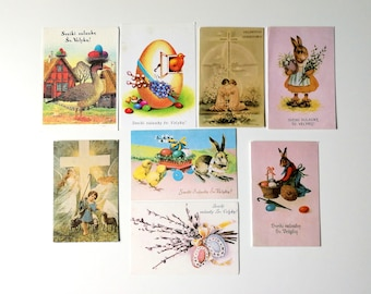 Greeting cards vintage etsy au easter greeting cards unused soviet postcards blank vintage easter colored eggs easter bunny postcard easter card with spring flowers m4hsunfo