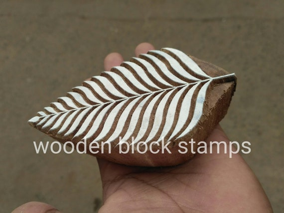 wooden block stamps leaf wooden printing blocks henna print hand made block  scrapbook printing stencil block printing fabric print block
