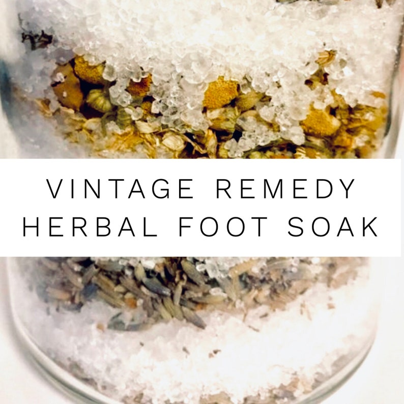 Vintage Remedy Herbal Foot soak, Herbal Sea Salt Foot Soak, Epsom Salt  Soak, Pain Relief for Feet, plantar fasciitis relief, spa gift, vegan