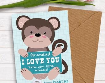 Happy Bithday Grandad I Love You Cute Card For Grandparents Birthday Grandpa Gift