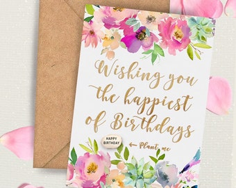 Handmade Birthday Card For Her Greetings Happy Friend Sister Cousin Auntie Mum
