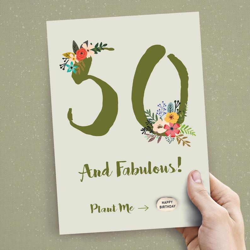Handmade 50th Birthday Card Happy