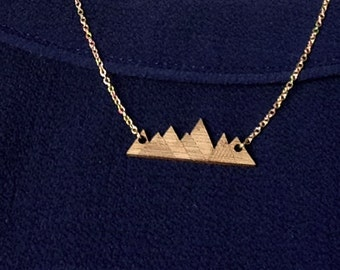Gold Mountain necklace origami
