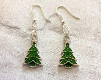 Christmas Tree  Earrings, Novelty Tree earrings, Christmas Tree  Earrings, Christmas Dangle Earrings, Stocking Filler, Festive Earrings,
