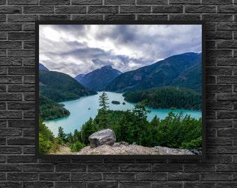 Mountain Lake Photography - Lake Landscape Photo - Nature Art - Nature Wall Decor - Mountain Landscape Wall Art - Nature Photography