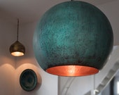 TISJA hand beaten oxidized copper lamp
