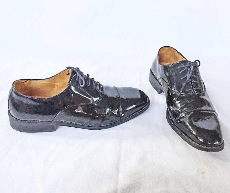 442514f96a5 Bill Blass Oxfords Vintage Patent Leather Evening Tuxedo