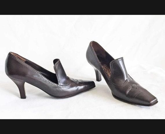 Vintage Salvatore Ferragamo Pilgrim  Pumps Loafers