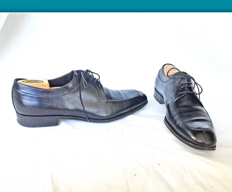 0f45d9071f970 Salvatore Ferragamo Oxfords Italy 11 D Black Leather Lace Up | Etsy
