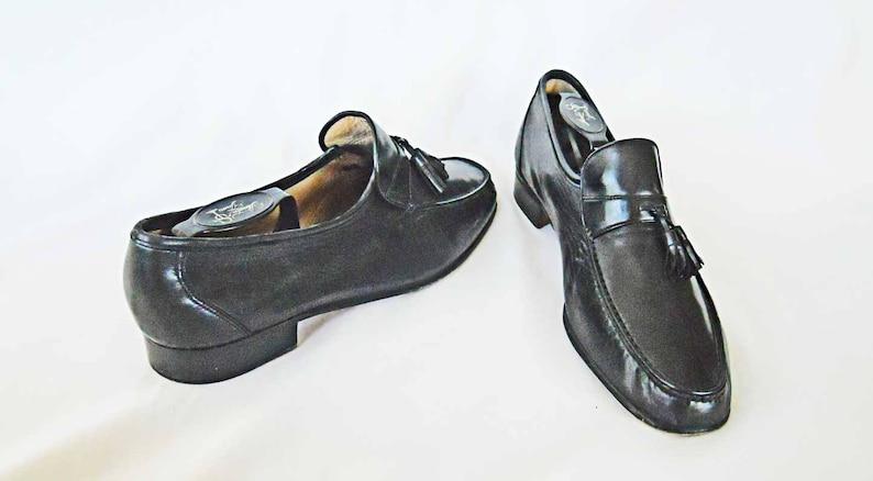 6c3882bd09ebb Oleg Cassini Loafers Italy 10 1/2 M 10.5 Black Tassel Mocs Butter Soft  Leather Slip On Men Man Shoes