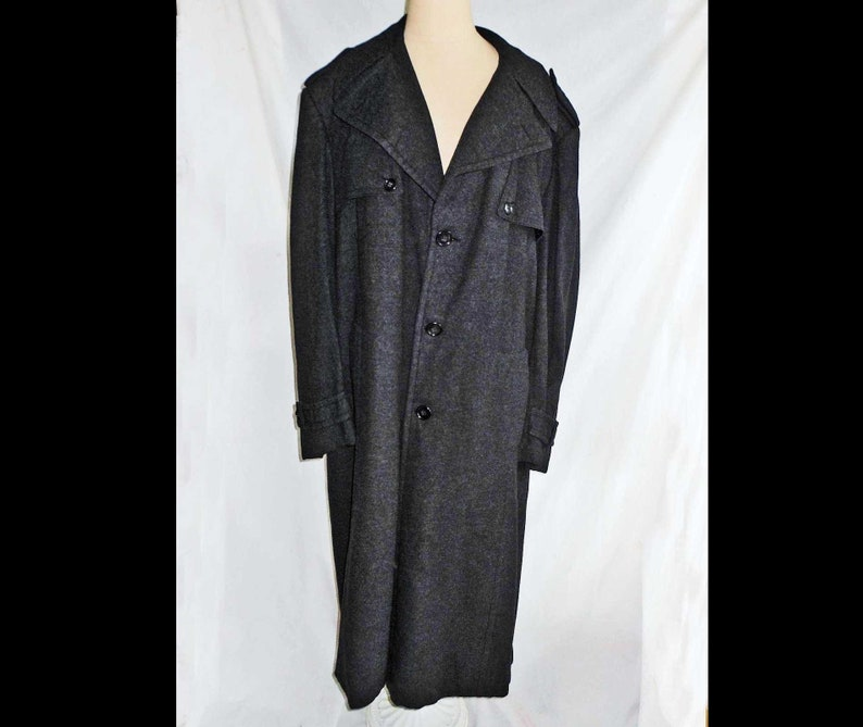 aad3c0367627c Coat Eric Ross Beverly Hills NOS Vintage 70s Overcoat Men Swagger Gray  Trench Dead Stock Menswear New Old Stock Winter Movie Star Glamour