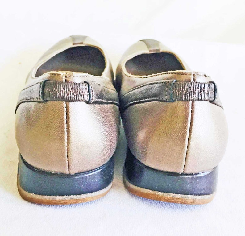 88098fa7e1f6c Dead Stock Vintage Cole Haan Flats Shoes Ballet 6 B Bronze Blue NOS New Old  Stock Dead Stock Comfort Wardrobe Staple Investment Dressing