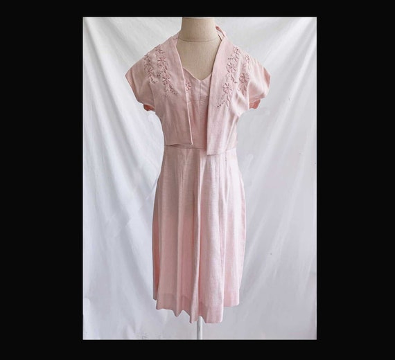 Vintage 50s Dress Halter Neck Fit and Flare with M