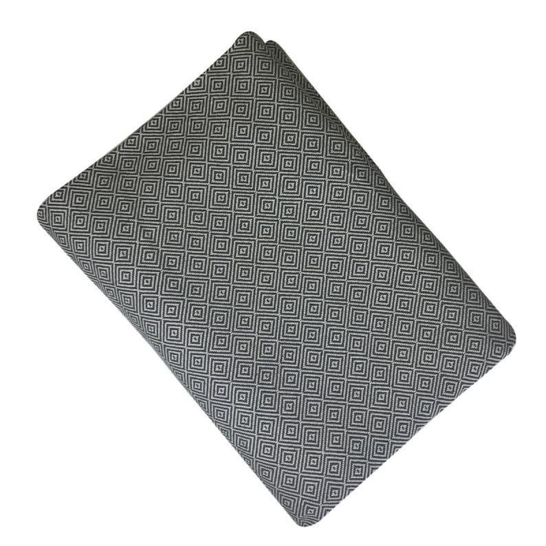 Throw Blanket Bed Sofa Throw Handwoven Cotton Diamond Design Blanket Bedspread King  Double size Dark Grey Blankets and Throws