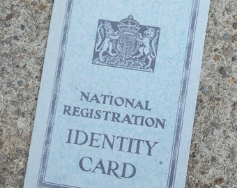 British 1940's WW2 Reproduction Adults Identity Card