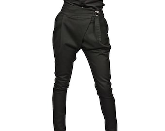 70a583cb0770 NEW Black Drop Crotch Harem Trousers