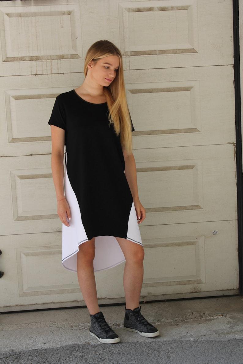 3ad3c7cc91b1 High Low Dress Black and White Mini Dress Smart Casual
