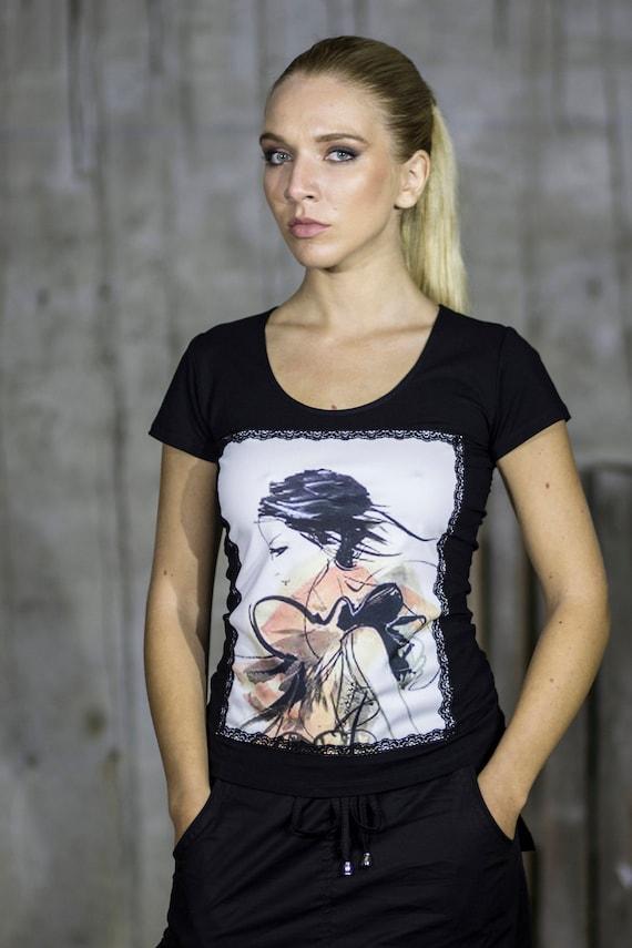 Macrame Graphic Tunic by Silvia Monetti
