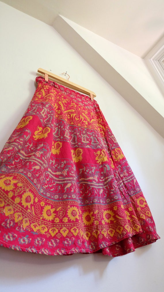 Vintage India Skirt | 1970's Indian Wrap Skirts |