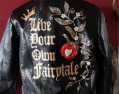 Handpainted custom wedding jacket