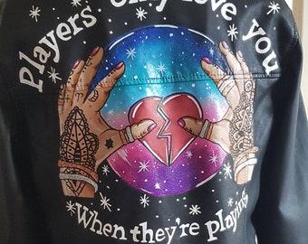CUSTOM ORDER - ARRAN - Handpainted Stevie Nicks inspired jacket